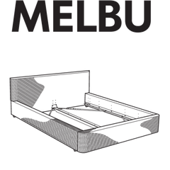 MELBU Bedframe Replacement Parts