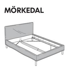 MORKEDAL Bedframe Replacement Parts