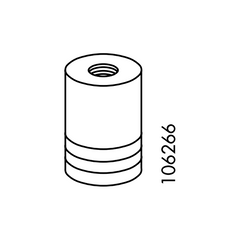 IKEA BONDE Knob and Screw #106266
