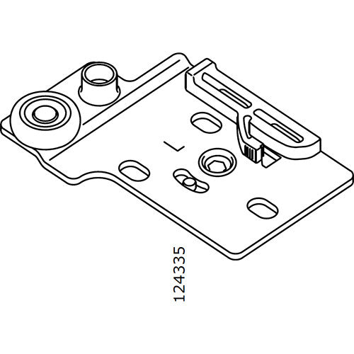 Pax Sliding Door Wheel Bracket (Left) (IKEA Part #124335