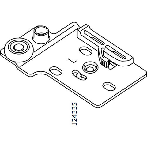 Pax Sliding Door Wheel Bracket (Left) (IKEA Part #124335)