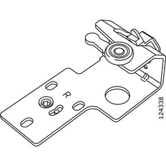 Pax Sliding Door Wheel Bracket (Right) (IKEA Part #124338)