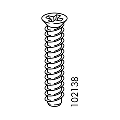 Flat Top Screws (IKEA Part #102138)