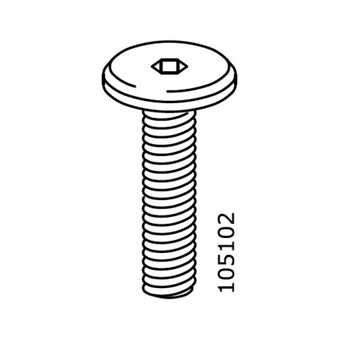 Flat Top Metric Screws (IKEA Part #105102)