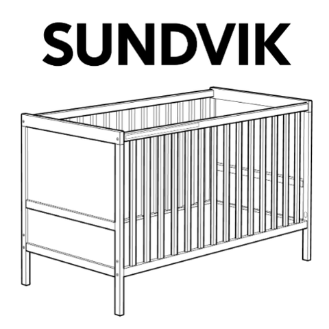 IKEA SUNDVIK Crib Replacement Parts