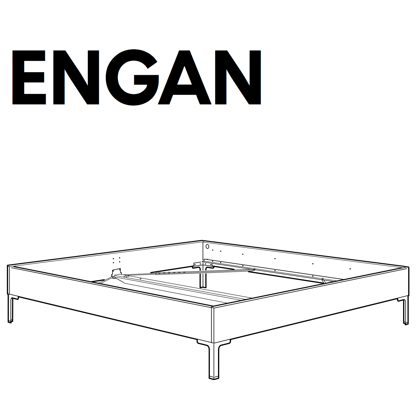ENGAN Bedframe Replacement Parts – FurnitureParts.com