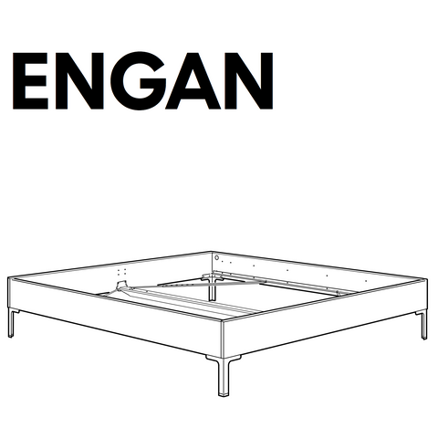 engan bedframe replacement parts. Black Bedroom Furniture Sets. Home Design Ideas