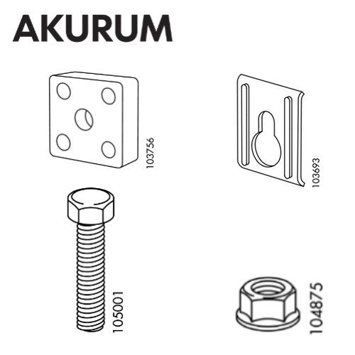 IKEA AKURUM Suspension Rail Set  sc 1 st  IKEA Replacement Parts & IKEA AKURUM Suspension Rail Set u2013 FurnitureParts.com