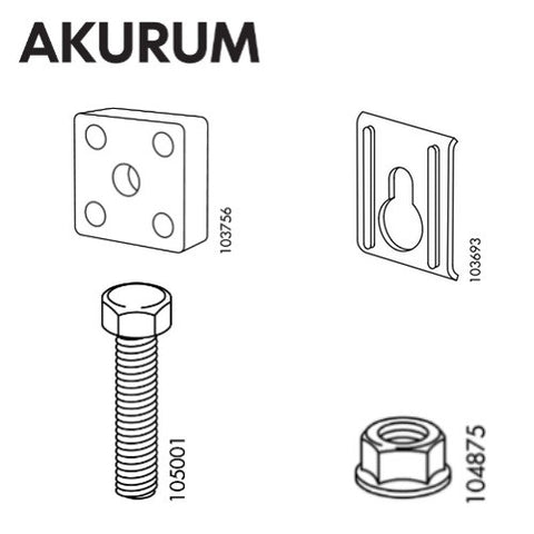 IKEA AKURUM Suspension Rail Set