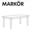 IKEA MARKOR Dining Table Replacement Parts