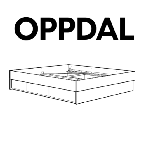 IKEA OPPDAL Bed Frame Replacement Parts u2013 FurnitureParts com