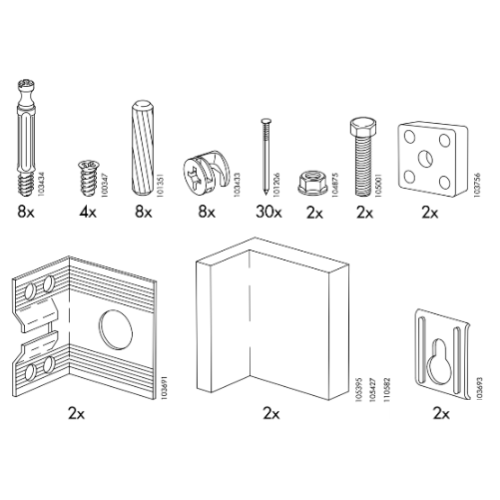 Ikea Kitchen Cabinet Parts IKEA AKURUM CabiReplacement Parts – FurnitureParts.com
