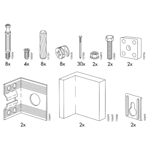 IKEA AKURUM Cabinet Replacement Parts