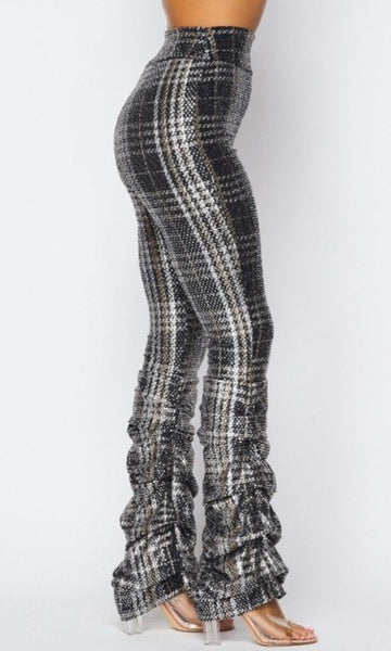 Plaid Sequin Leggings