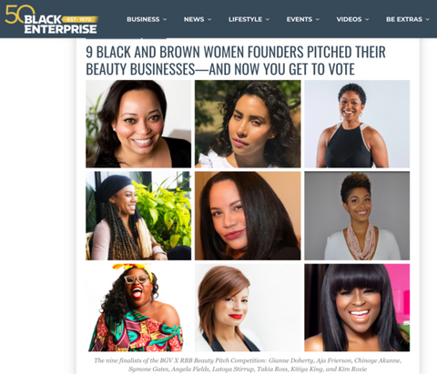 Pitch Competition Feature in Black Enterprise Magazine