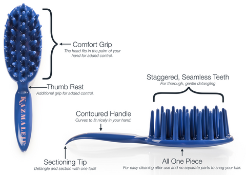 KurlsPlus Paddle Comb Product Features