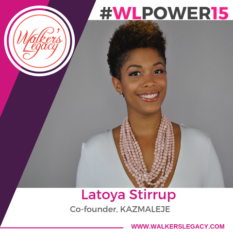 Walkers Legacy Power 15 Miami Honoree LaToya Stirrup