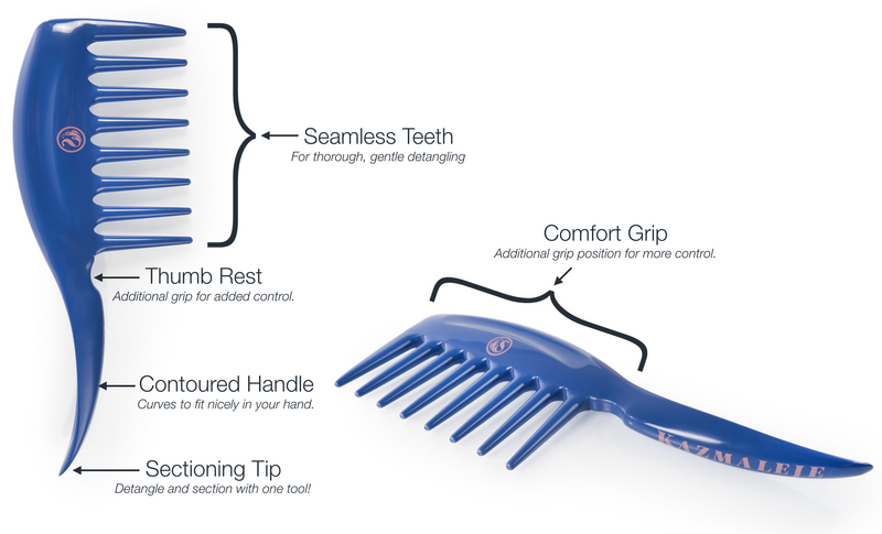 KurlsPlus Detangler Comb Product Features