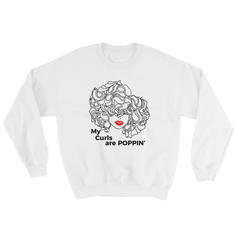 Curls Poppin' Women's Sweatshirt