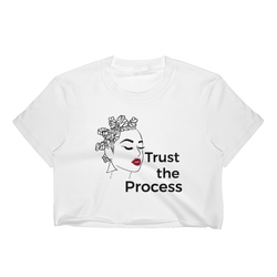 KAZMALEJE Trust the Process Women's Crop Top