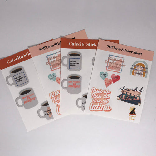 Sel-Love and Cafecito Sticker Packs