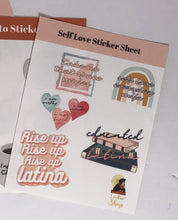 Load image into Gallery viewer, Sel-Love and Cafecito Sticker Packs