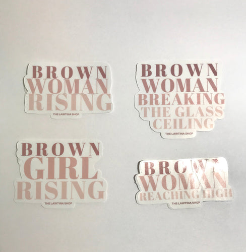 Brown Woman- Empowerment Waterproof stickers