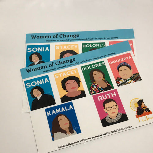 Women of Change Sticker Sheet, Waterproof