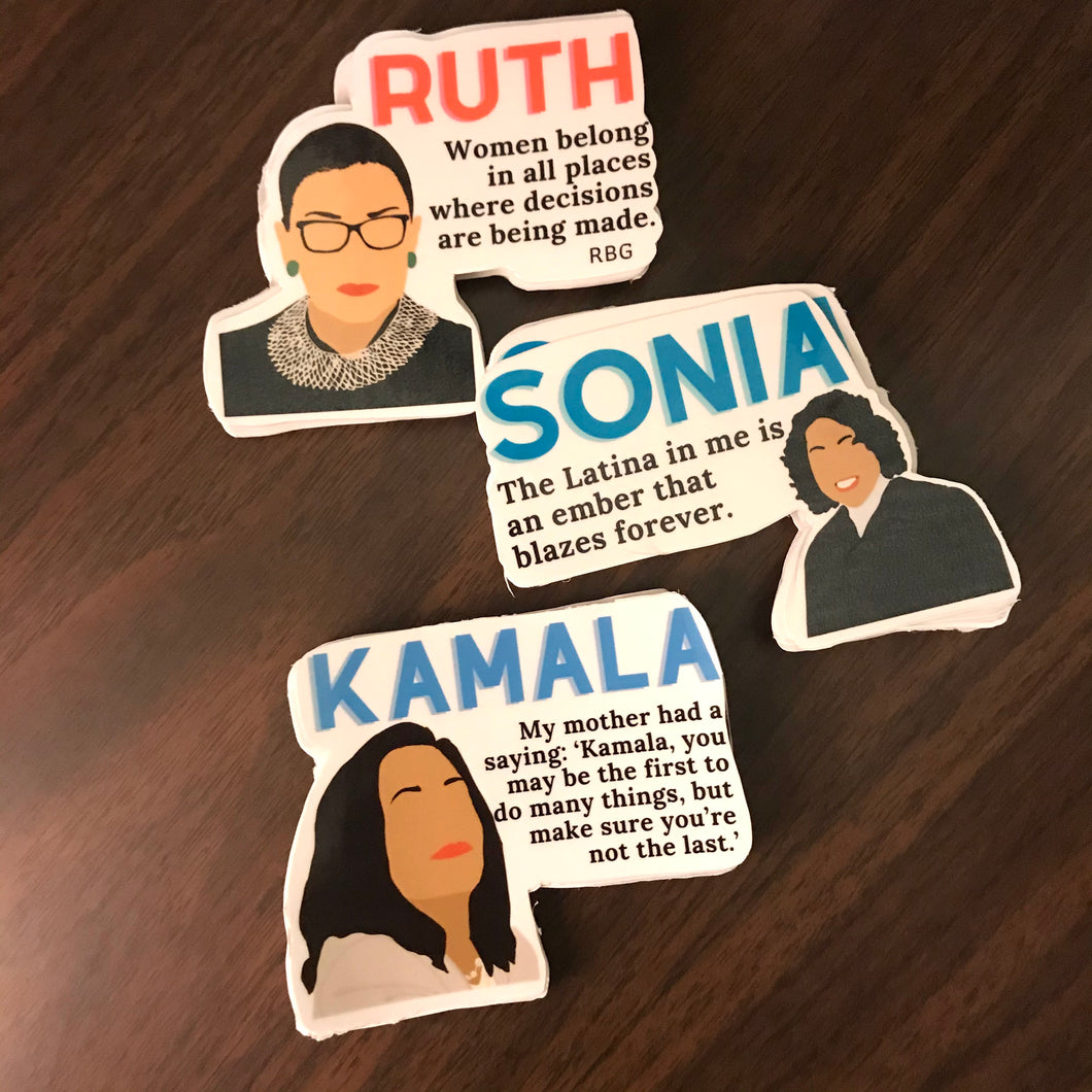 Women of Change Quotes Stickers