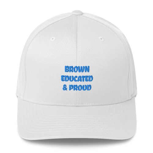 Brown, Educated, and Proud Structured Twill Cap