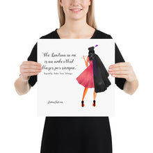 Load image into Gallery viewer, The Lawtina Poster, Watercolor print.