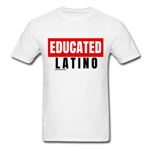 Educated Latino Unisex Classic T-Shirt - white
