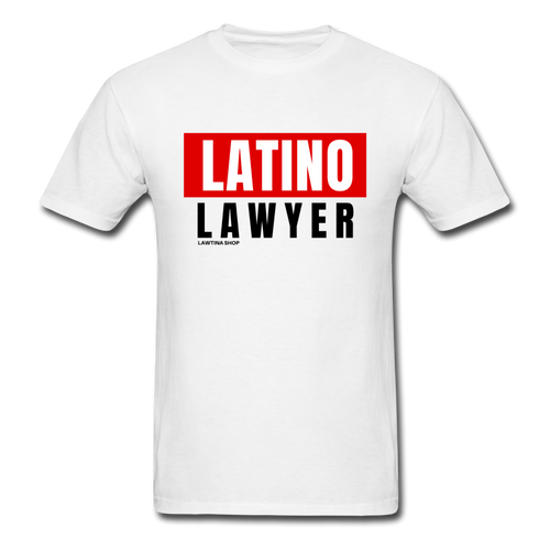 Latino Lawyer Men's T-Shirt - white