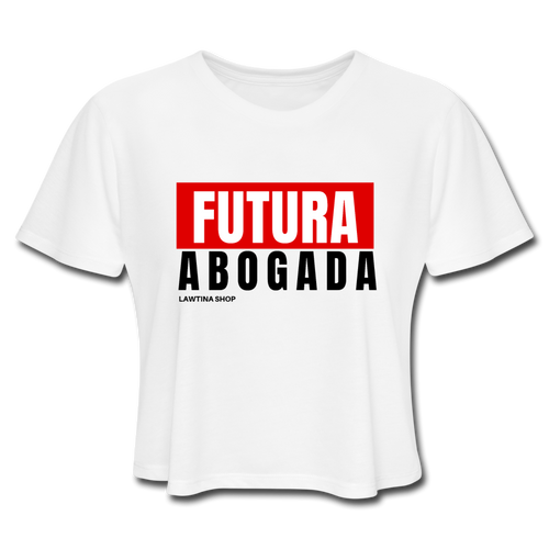 Futurea Abogada Women's Cropped T-Shirt - white