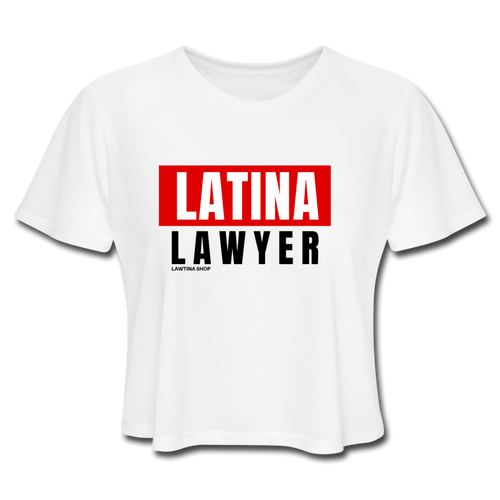 Latina Lawyer Women's Cropped T-Shirt - white