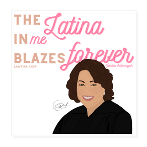 The Latina in Me, Poster 8x8 - white