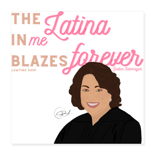 The Latina in Me, Poster 16x16 - white