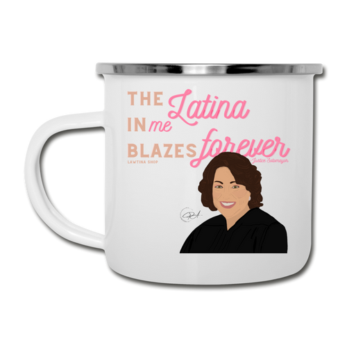 The Latina in Me, Camper Mug - white