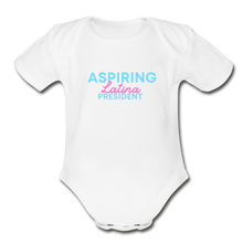 Load image into Gallery viewer, Aspiring President, Organic Short Sleeve Baby Bodysuit - white