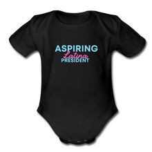 Load image into Gallery viewer, Aspiring President, Organic Short Sleeve Baby Bodysuit - black