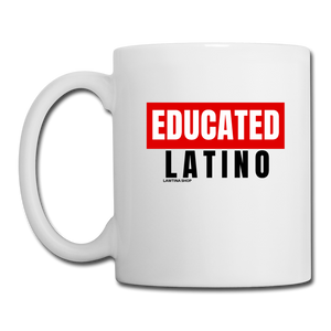 Educated Latino, Coffee/Tea Mug - white