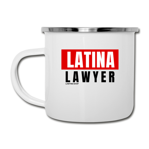 Latina Lawyer, Camper Mug - white