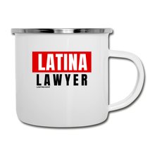 Load image into Gallery viewer, Educated Latina, Camper Mug - white