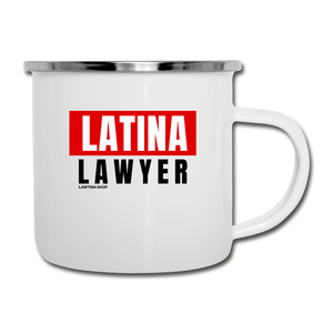 Educated Latina, Camper Mug - white