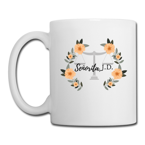 Senorita J.D., Coffee/Tea Mug - white