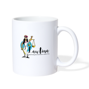 Latina Lady Justice Coffee/Tea Mug - white