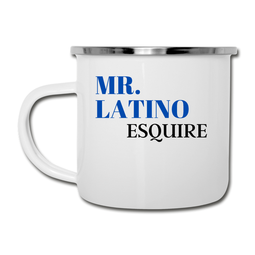 Mr. Latino, Esq. Camper Mug - white