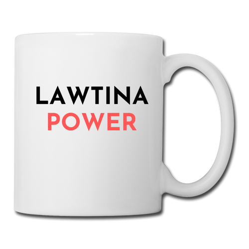 Lawtina Power, Coffee/Tea Mug - white