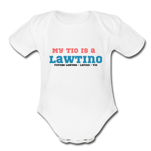 Load image into Gallery viewer, Future Lawtino Tio, Organic Short Sleeve Baby Bodysuit - white