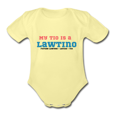 Load image into Gallery viewer, Future Lawtino Tio, Organic Short Sleeve Baby Bodysuit - washed yellow
